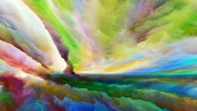 Визуализирование абстрактного ландшафта Стоковые Изображения RF