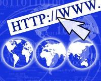 Визуализирование интернета Стоковое Изображение