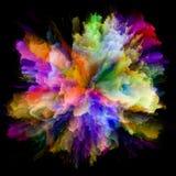 Визуализирование красочного взрыва выплеска краски стоковое изображение rf