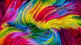 Визуализирование красочной краски Стоковое фото RF