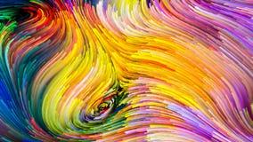 Визуализирование красочной краски стоковые изображения