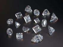 Визуализирование различного диаманта Стоковые Фото