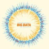 Визуализирование данным по вектора абстрактное круглое большое Футуристический дизайн infographics Визуальная сложность информаци Стоковые Изображения RF