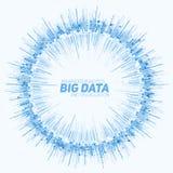 Визуализирование данным по вектора абстрактное круглое большое Футуристический дизайн infographics Визуальная сложность информаци Стоковые Фотографии RF