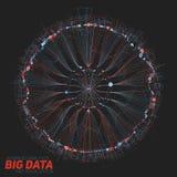 Визуализирование больших данных круглое Футуристическое infographic Дизайн информации астетический Визуальная сложность данных Стоковые Фото