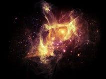 Визуализирование межзвёздных облаков фрактали стоковое изображение