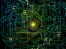 Визуализирование связей технологии Стоковое Фото