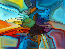 Визуализирование цветного стекла цифров Стоковая Фотография RF