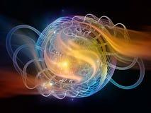 Визуализирование цифров абстрактное Стоковое фото RF