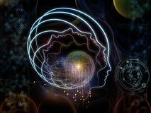 Визуализирование человеческой технологии иллюстрация штока