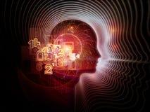 Визуализирование человеческой технологии иллюстрация вектора
