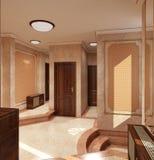 визуализирование 3D дизайна интерьера вестибюля Стоковые Фото