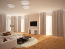 визуализирование 3D дизайна интерьера комнаты livimg Стоковые Фото
