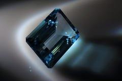 визуализирование vhq голубого topaz gemstones формы каталога овального годное к употреблению Стоковое Изображение