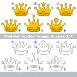 Визуальная игра для детей для того чтобы найти спрятанные пары объектов иллюстрация штока