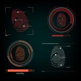 Визуальный отпечаток пальцев реакции Стоковая Фотография