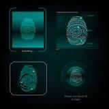 Визуальный отпечаток пальцев реакции Стоковое Изображение