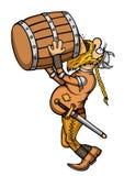 Викинг пьяный иллюстрация штока