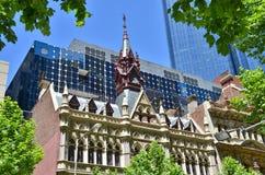 Викторианец встречает современное в Мельбурне Стоковое Фото