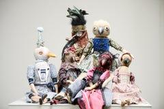 Викторианец корсета платья птиц игрушечного меха винтажное Стоковые Фотографии RF