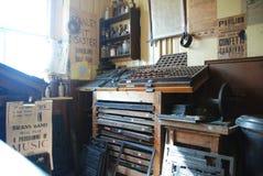 викторианец магазина печати Стоковое Изображение