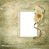 викторианец рамки цветка предпосылки Стоковые Изображения RF