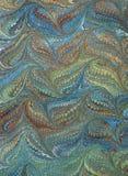 викторианец ренессанса мраморизованной бумаги 2 Стоковое Изображение
