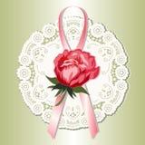 викторианец розы красного цвета шнурка Стоковое Фото