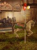 викторианец carousel старое иллюстрация вектора