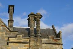 Викторианская крыша замка Scotney в Lamberhurst, королевском Tunbridge Wells, Кенте, Англии стоковые изображения
