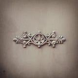 Викторианская орнаментальная работа металла на античном стальном стробе Стоковое Изображение