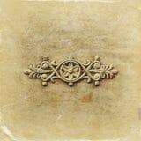 Викторианская орнаментальная работа металла на античном стальном стробе фильтрованное и текстурированное изображение Стоковое Изображение
