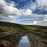 Викторианские пути Йоркшир воды стоковые фото