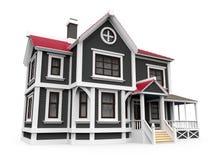Викторианский дом семьи Стоковое Изображение