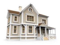 Викторианский дом семьи Стоковое Изображение RF