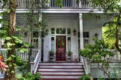 Викторианский дом с укручением Purch в Key West, Флориде стоковые изображения