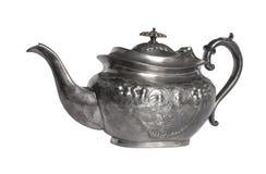 Викторианский чайник металла Britannia Стоковые Фотографии RF