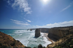 Виктория 12 апостолов на большой дороге океана Стоковое Изображение RF