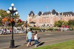 Виктория, Британская Колумбия, Канада - 11-ое сентября 2017: Fairmont Стоковые Изображения RF
