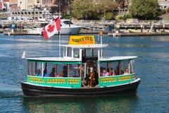 Виктория, ДО РОЖДЕСТВА ХРИСТОВА, Канада - 11-ое сентября 2017: Такси воды в Виктории Стоковое Изображение