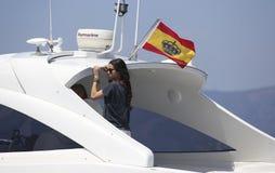 Виктория federica на борту яхты Стоковое фото RF