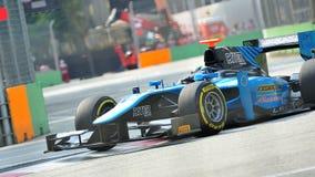 Виктор Guerin участвуя в гонке в Сингапур GP2 2012 Стоковое фото RF