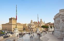 Виктор rome памятника emmanuel ii Стоковое Изображение