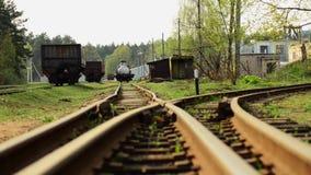 Вилка железнодорожных путей Дорога разделена сток-видео