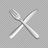 Вилка ножа изолированная на белой предпосылке r бесплатная иллюстрация