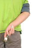 вилка прячет подросток Стоковая Фотография RF