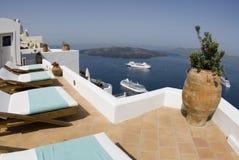 вилла взгляда острова гавани Стоковое Изображение RF