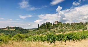 вилла Италии Тосканы Стоковая Фотография