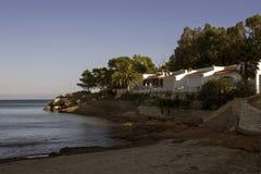 Вилла пляжа бортовая Стоковые Изображения