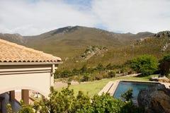 вилла типа роскошного бассеина страны испанская Стоковая Фотография RF